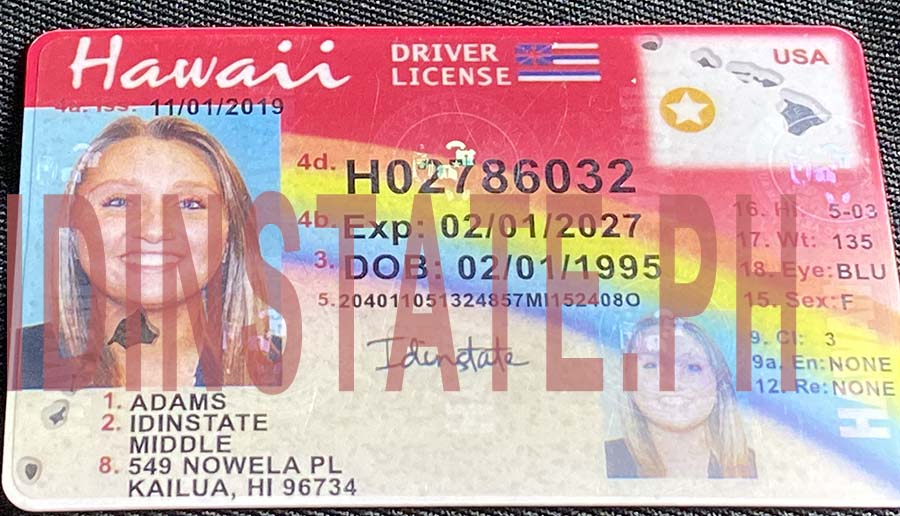 IDINSTATE IDINSTATE.PH New Hawaii State Fake ID