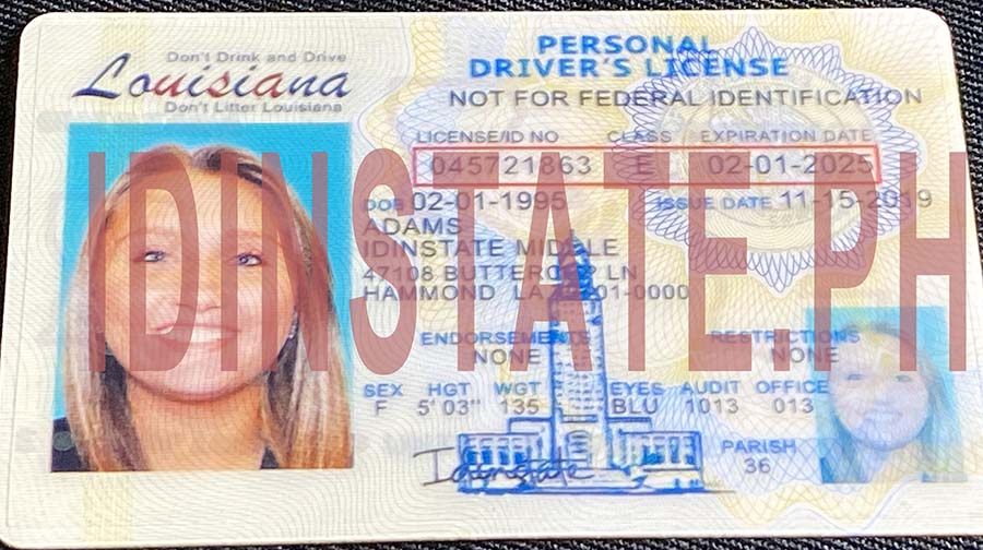 IDINSTATE IDINSTATE.PH New Louisiana State Fake ID