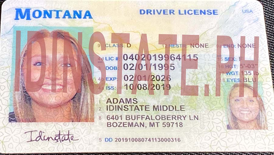 IDINSTATE IDINSTATE.PH New Montana State Fake ID