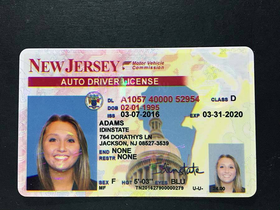 New Jersey Fake Driver License