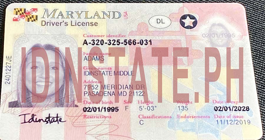 IDINSTATE IDINSTATE.PH New Maryland State Fake ID