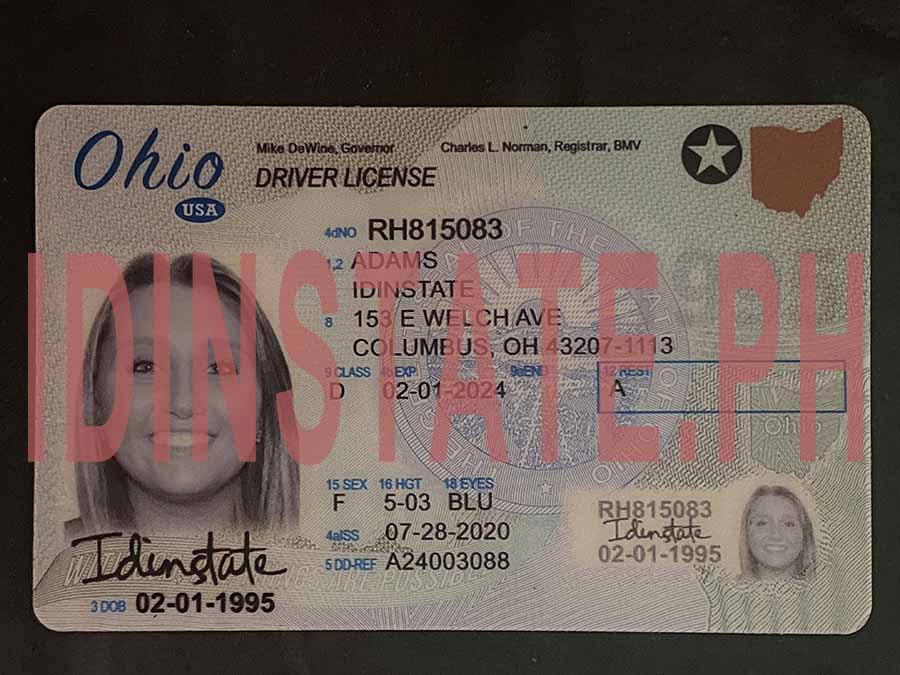 IDINSTATE IDINSTATE.PH New Ohio State Fake ID