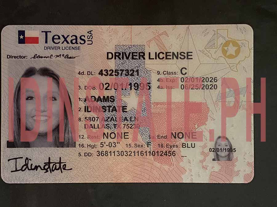 IDINSTATE IDINSTATE.PH New Texas State Fake ID